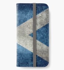 National flag of Scotland - Vintage version iPhone Wallet/Case/Skin