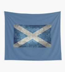 National flag of Scotland - Vintage version Wall Tapestry