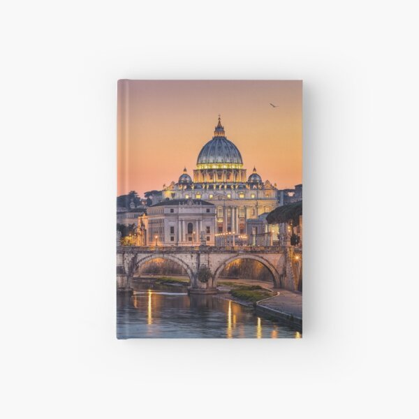 Basilica St Peter in Rome, Italy Hardcover Journal