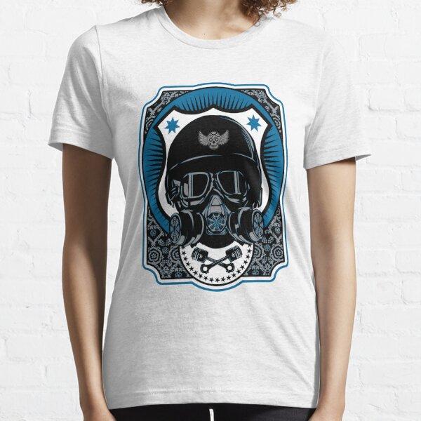 Drag Racing Helm in Blau Essential T-Shirt