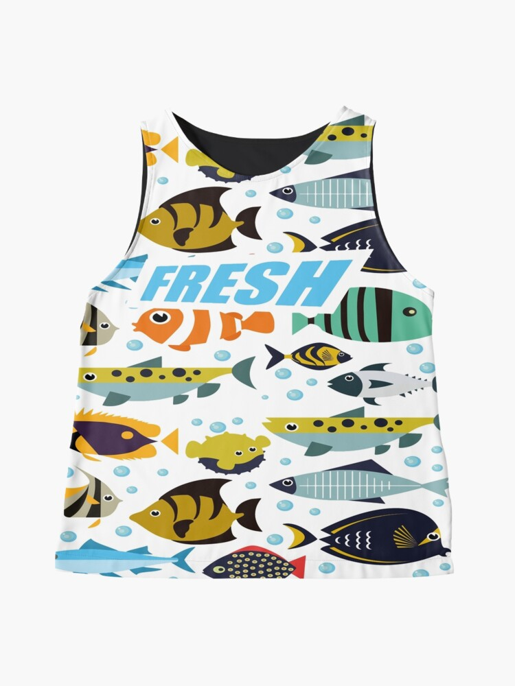 Alternate view of born to be a fishing legend III Sleeveless Top