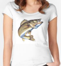Waleye fish Women's Fitted Scoop T-Shirt