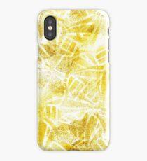 Gold butterflies iPhone Case/Skin