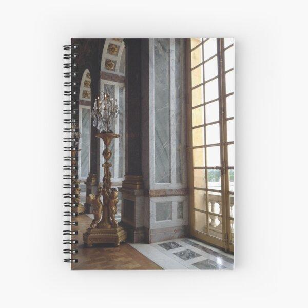 Versailles Hall of Mirrors detail Spiral Notebook