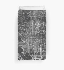 Washington DC-Karte, USA - Grau Bettbezug