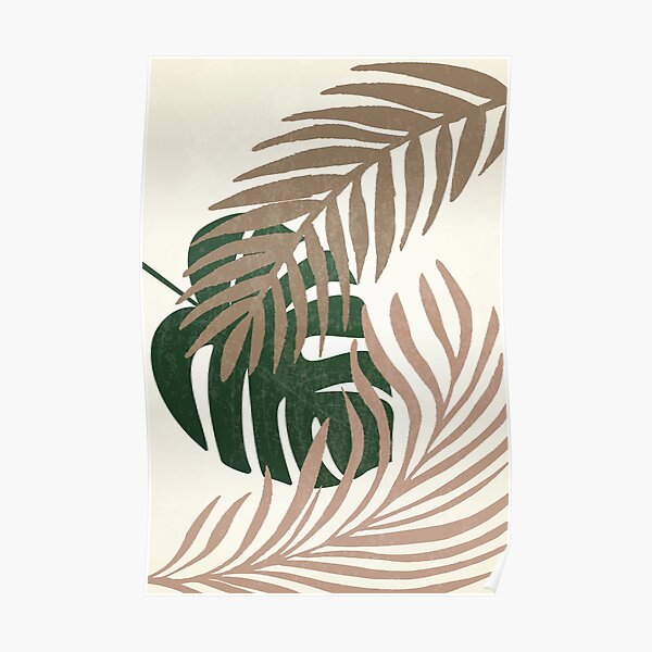 Tropical Leaves Print  Poster