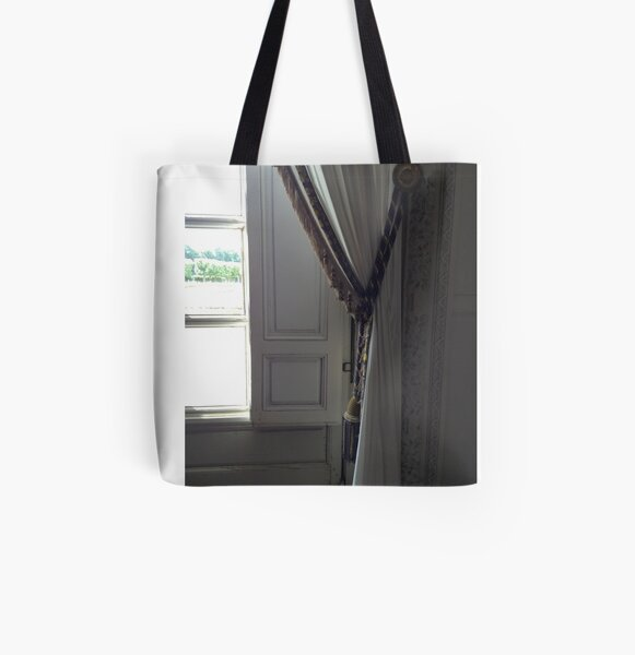 Versailles Trianon window and curtains detail All Over Print Tote Bag