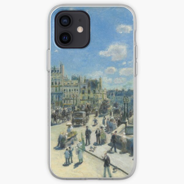 Pont-Neuf - 1872 - Pierre-Auguste Renoir iPhone Soft Case