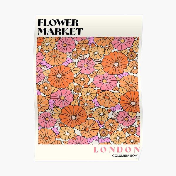 Flower Market London Poster