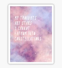 My thoughts are stars Sticker