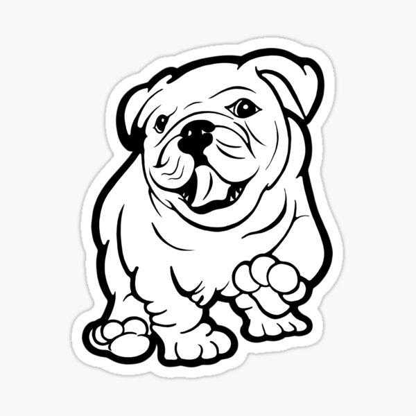 Happy Bulldog Puppy  Sticker