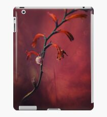 Small shel on the dry flowers iPad Case/Skin