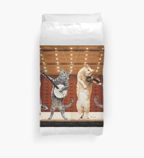 cats music Duvet Cover