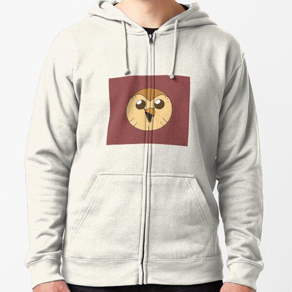 Hooty owl hous| Perfect Gift | Owl house gift Zipped Hoodie