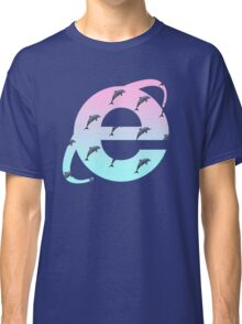 Vaporwave | Dolphins | Internet Explorer | HIGH QUALITY! | NEW! Classic T-Shirt