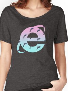 Vaporwave | Dolphins | Internet Explorer | HIGH QUALITY! | NEW! Women's Relaxed Fit T-Shirt