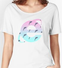 Vaporwave   Dolphins   Internet Explorer   HIGH QUALITY!   NEW! Women's Relaxed Fit T-Shirt