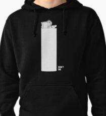 OMINOUS: White Lighter Pullover Hoodie