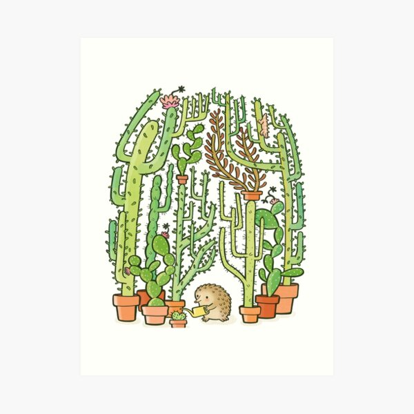 hedgehog cacti Art Print