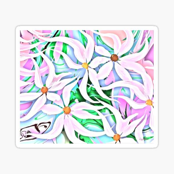 Pastel Daisy Abstract Sticker