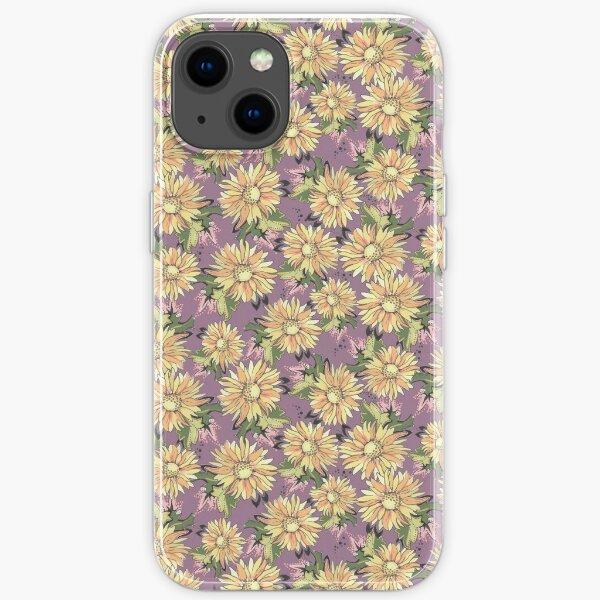 Color Sunflowers Allover print- Vintage Colorful Floral iPhone Soft Case