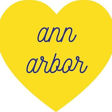 corazón de Ann Arbor de alexwein