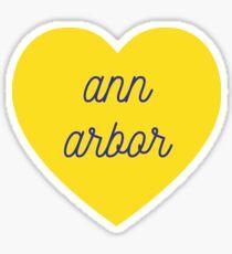 Ann Arbor Herz Sticker