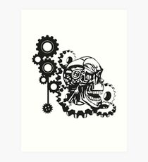 CyberPunk Skull Art Print