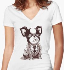 Iggy - Stardust Crusaders Women's Fitted V-Neck T-Shirt