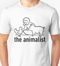 The Animalist - Black on white T-Shirt