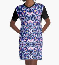 Flora Cosmica Graphic T-Shirt Dress