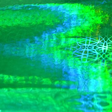 Green & Blue Abstract by Schoolhouse62