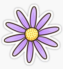 Purple flower sticker Sticker