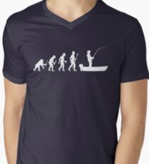 Funny Evolution Of Man and Boat Fishing T-Shirt
