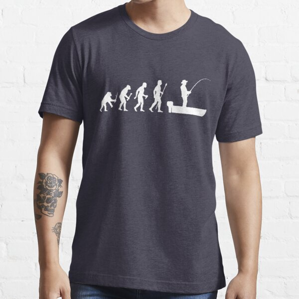 Funny Evolution Of Man and Boat Fishing Essential T-Shirt