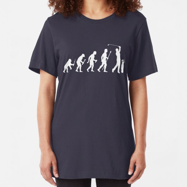 Funny Evolution Of Golf Slim Fit T-Shirt