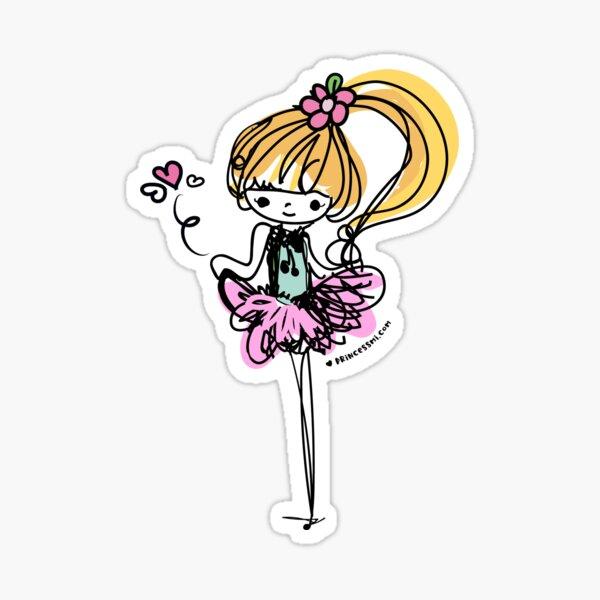 doodle girl illustration Sticker