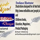 Aldona Designs:Logo on a thank you card by aldona