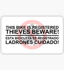 Anti Bike Theft Sticker Sticker