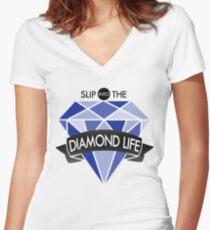 Seventeen/17 'Shining Diamond' Lyrics KPOP Women's Fitted V-Neck T-Shirt