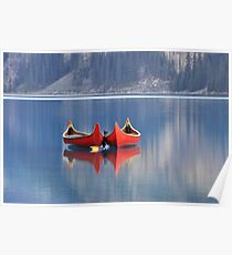 Red Canoes Poster