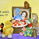 Mime & toys get well by Baina Masquelier