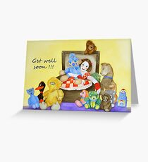 Mime & toys get well Greeting Card