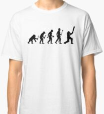 Funny Born To Play Cricket Evolution Shirt Classic T-Shirt