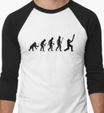 Funny Born To Play Cricket Evolution Shirt Men's Baseball ¾ T-Shirt