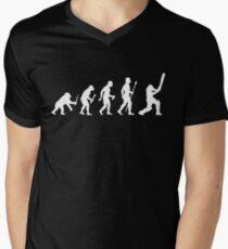 Cricket Evolution Of Man  Men's V-Neck T-Shirt