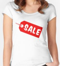 Verkaufs-Tag mit Schnur Tailliertes Rundhals-Shirt