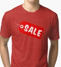 Sale Tag With String Tri-blend T-Shirt