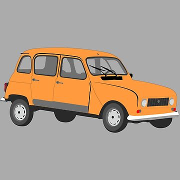 Renault 4 GTL in Orange by MangaKid