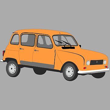 Renault 4 GTL in Orange by MangaKid